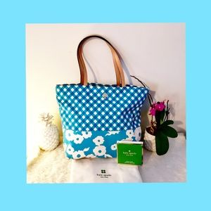 Authentic Kate Spade Beautiful Blue Tote